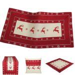 Rote Hirsche Stickerei - Weihnachtsserie 001