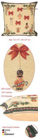 Dekokissen Zierkissen Weihnachtsengel Kissenbezug Gobelin Gobelinkissen 38x38 cm – Bild 8