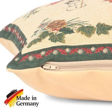 Dekokissen Zierkissen Weihnachtsengel Kissenbezug Gobelin Gobelinkissen 38x38 cm – Bild 2