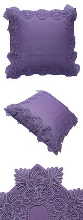 Violetter Kissenbezug mit Spitze – Bild 4