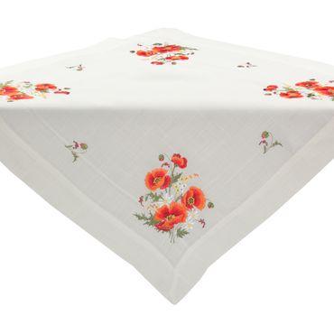 Roter Klatschmohn Stickerei - Frühlingsserie Weiß – Bild 7