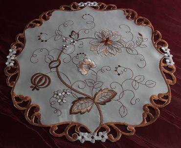 Braune Blumen Stickerei - Serie – Bild 4