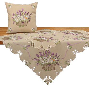 Romantische Lila Lavendel Stickerei Tischläufer Party Küche Heimtextilien Tischdecken Dekoration