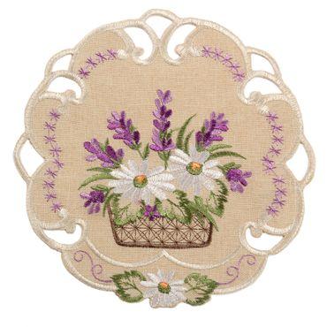 Romantische Lila Lavendel Stickerei Tischläufer Party Küche Heimtextilien Tischdecken Dekoration – Bild 2