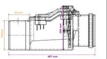 Rückstauverschluss Ø DN 160 mit verriegelbarer Rückstauklappe ( Aquer ) Bild 4