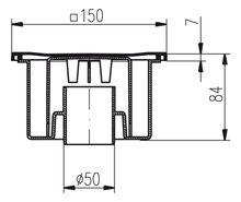 Duschablauf   Badablauf   Bodenablauf    150 x 150 mm  DN 50 (321 N) Bild 2