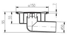 Duschablauf  Bodenablauf in Edelstahl  150x150 mm   DN50 (326 N) Bild 2