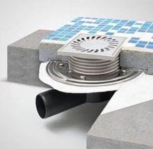 Hofablauf Kellerablauf Gitterrost aus Kunststoff DN 110 150 x 150 mm  327  S P Bild 5