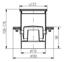 Duschablauf  Edelstahl 122x122mm DN 110 incl Dichtungsmatte  421 391 1  Bild 2