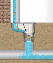 Regenrohrablauf  Dachrinnenablauf  Regensinkkasten   DN 125  325 B  Bild 5