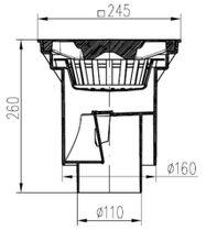 Hofablauf Kellerablauf Kunststoffrost Belastung bis 1500 kg  245x245 mm 328 P  Bild 2