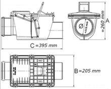 Rückstauverschluss Ø DN110 mit doppelter Rückstauklappe Bild 2