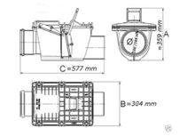 Rückstauverschluss Ø DN160 150 doppelte Rückstauklappe Zweifach Verriegelung Bild 2
