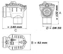 Rückstauverschluss mit verriegelbarer Rückstauklappe  DN50   Typ 4 50  Bild 2