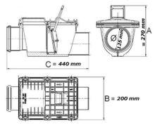 Rückstauverschluss Ø DN 125 mit verriegelbarer Rückstauklappe Bild 2