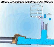 Rückstauverschluss-Ø DN 110 mit verriegelbarer Rückstauklappe Bild 8