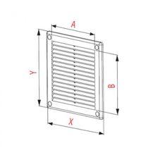 Lüftungsgitter 250x250mm Abluftgitter aus ASA Kunststoff mit Insektenschutz weiß Bild 4