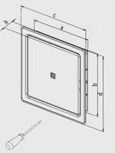 Revisionstür 300x300 mm Revisionsklappe aus Edelstahl gebürstet mit Einbaurahmen Bild 6