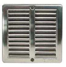 Edelstahl Lüftungsgitter 150x150mm Abluftgitter Insektenschutz u Einbaurahmen S
