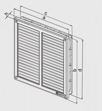 Edelstahl Lüftungsgitter 250x250mm Abluftgitter Insektenschutz u Einbaurahmen Bild 9
