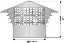 Entlüftungshaube Dunsthut  Dachentlüfter DN 75 75mm Montage In das Rohr Bild 7
