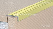 Treppenkantenprofil Treppenwinkel geschraubt 25x20mm eloxiert  Gold  C 07