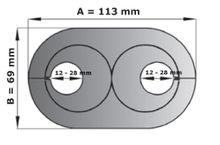 5 Stück Doppel Heizungsrosetten Heizungsmanschetten  weiß  28mm Bild 2