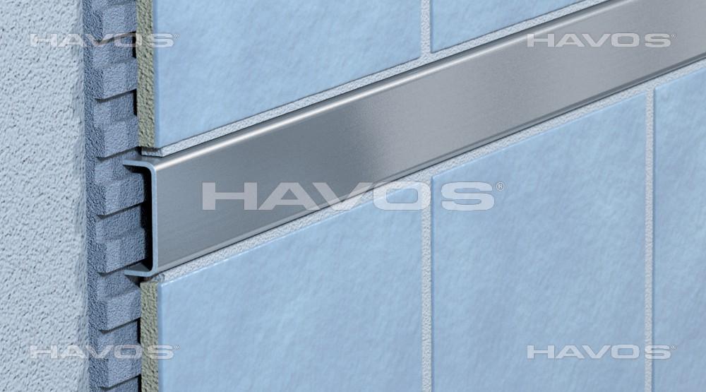 fliesenprofil fliesenschiene edelstahlschiene l100cm b20mm. Black Bedroom Furniture Sets. Home Design Ideas