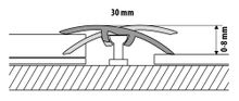 Übergangsprofil Anpassungsprofil Ausgleichsprofil 30mm Holzdekor Eiche weiß(C01) Bild 5