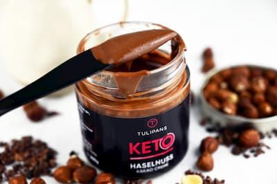 Haselnuss Kakao Creme ohne Zuckerzusatz, 13% Haselnüsse mit Erythrit und Stevia (im Glas)