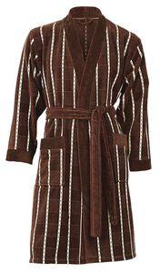 Frottee-Velour Bademantel PETER von VAL DE VILLE, Jacquard Kimonoform 380 g/m² – Bild 1