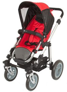 Travelsystem Kombikinderwagen + Babyschale A035K von UNITED-KIDS, Red-Black – Bild 4