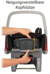 Babyschale Autokindersitz Cocomoon, Gruppe 0+, 0-13 kg, creme-schwarz – Bild 3