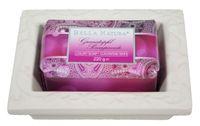 Seife No. 7, Bella Natura Granatapfel Luxury Soap mit Keramikschale, Geschenkset (2-teilig) 001