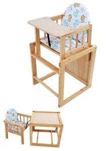 UNITED-KIDS Kombihochstuhl 2in1 Hochstuhl & Stuhl- u. Tischkombination aus Kiefer / Essbrett aus Holz
