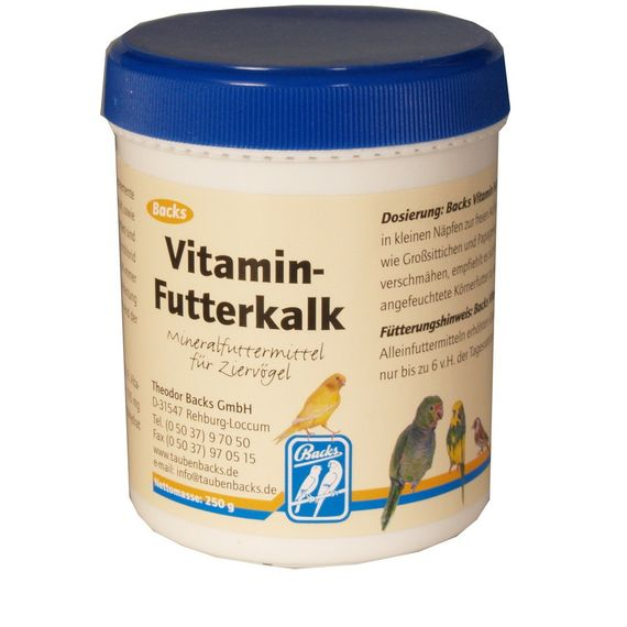Backs Vitamin Futterkalk 250g