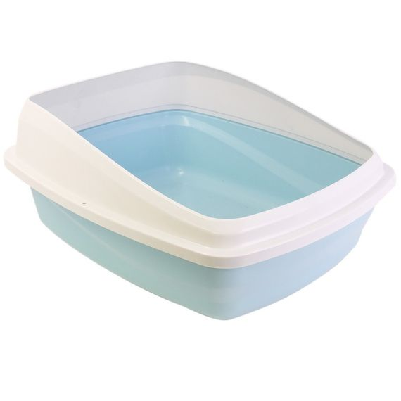 Cat Love - Cat Pan mit Rand: blau, grau large