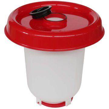 Stülptränke weiß/rot mit Verschraubung unten, 10 Ltr. 001