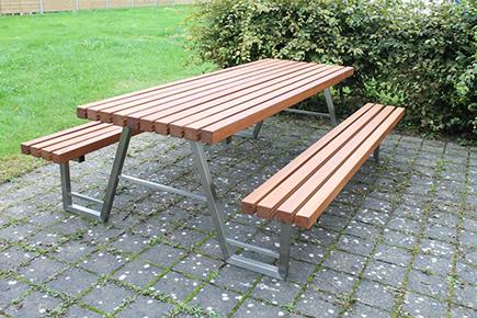Picknicktisch Holz Edelstahl
