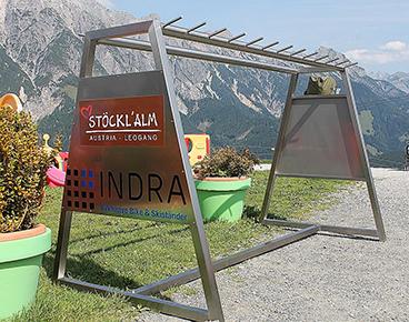 Bike & Skiständer Metall (Edelstahl)