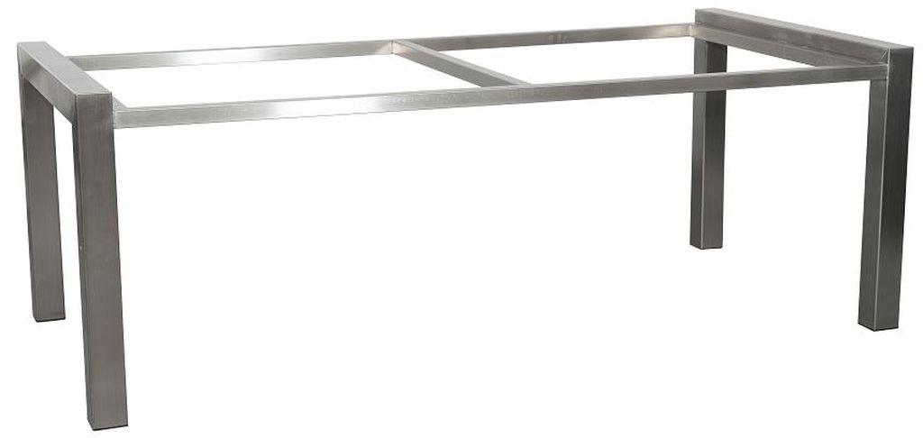 Edelstahl Tischgestell gebürstet 200 x 100 cm