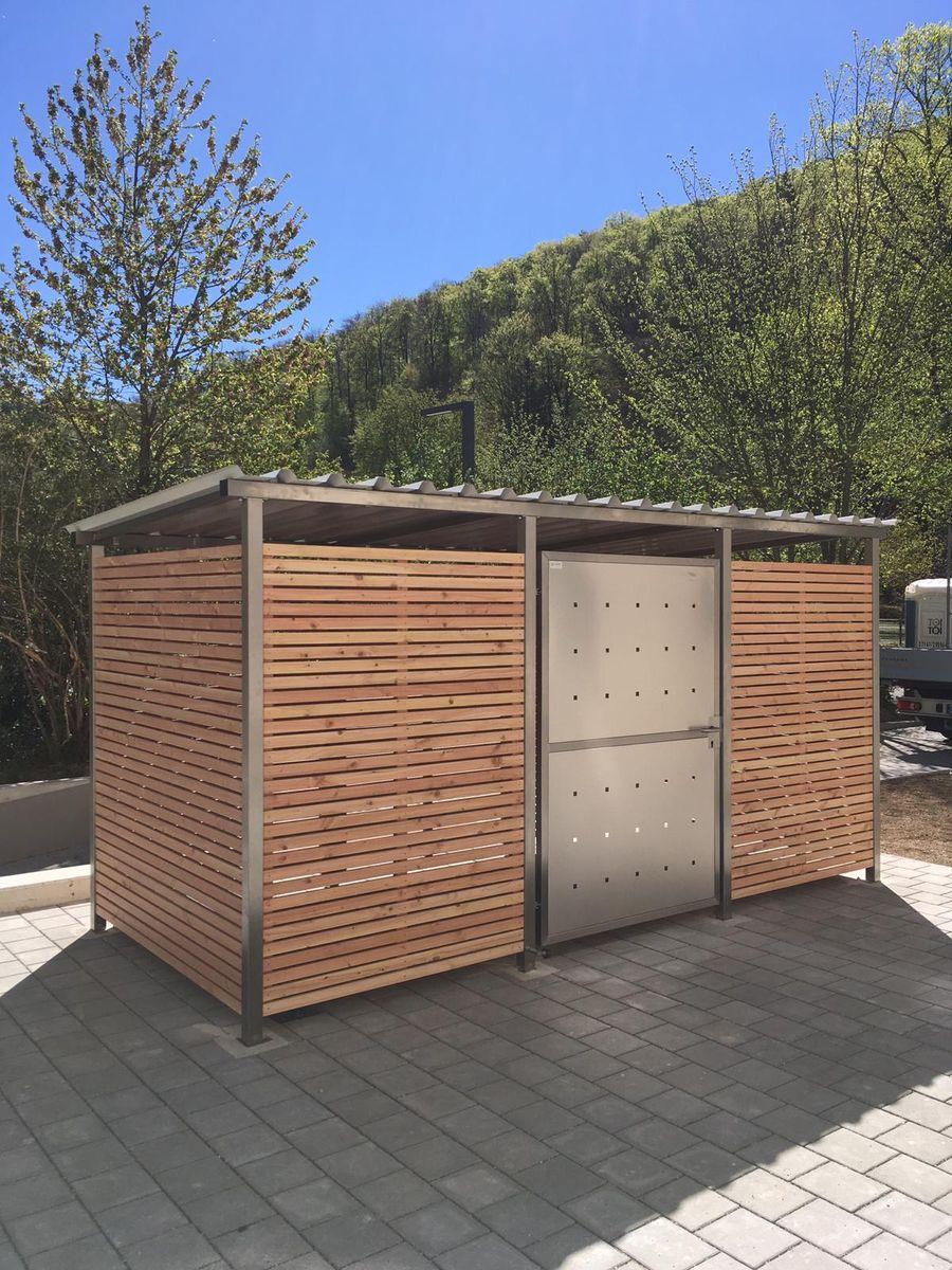 Mülltonnenhaus Größe 2 mit Lärchen / Douglasien Holz verkleidet