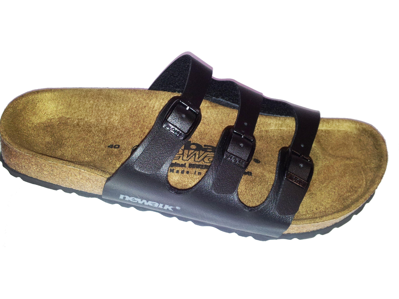 Newalk Pantolette Wupper ähnlich Florida schwarz Original Birkenstock Fußbett 1650S