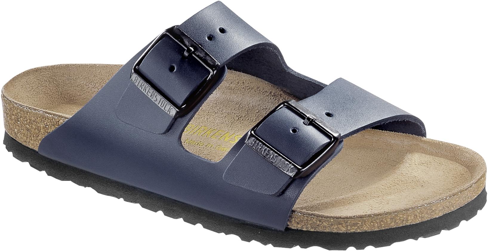 BIRKENSTOCK Pantolette Sandale Arizona blau Leder Gr. 35 50 051151 + 051153
