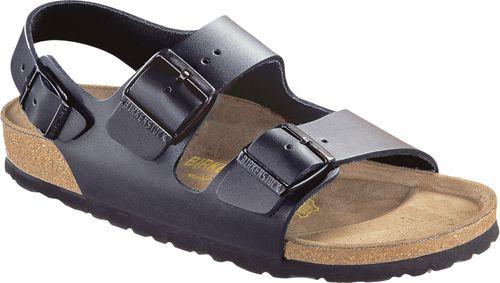 3dac6a8f5c5319 BIRKENSTOCK Sandale Milano schwarz Leder Gr. 35 - 48 034193 + 034191 ...