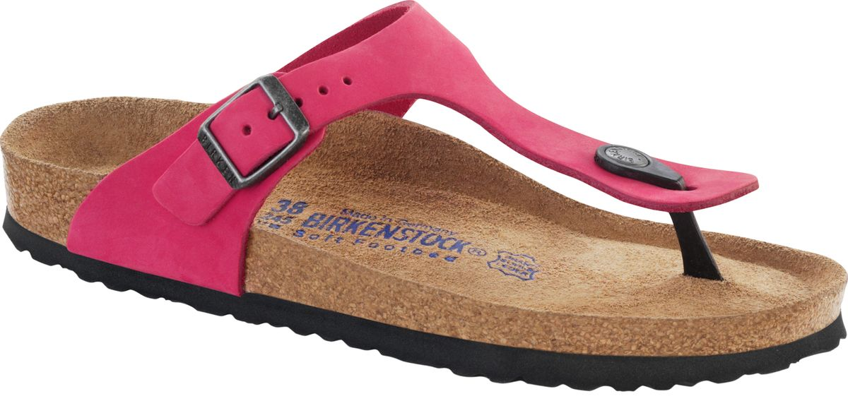 birkenstock zehensteg sandale gizeh nubukleder pink gr 35. Black Bedroom Furniture Sets. Home Design Ideas