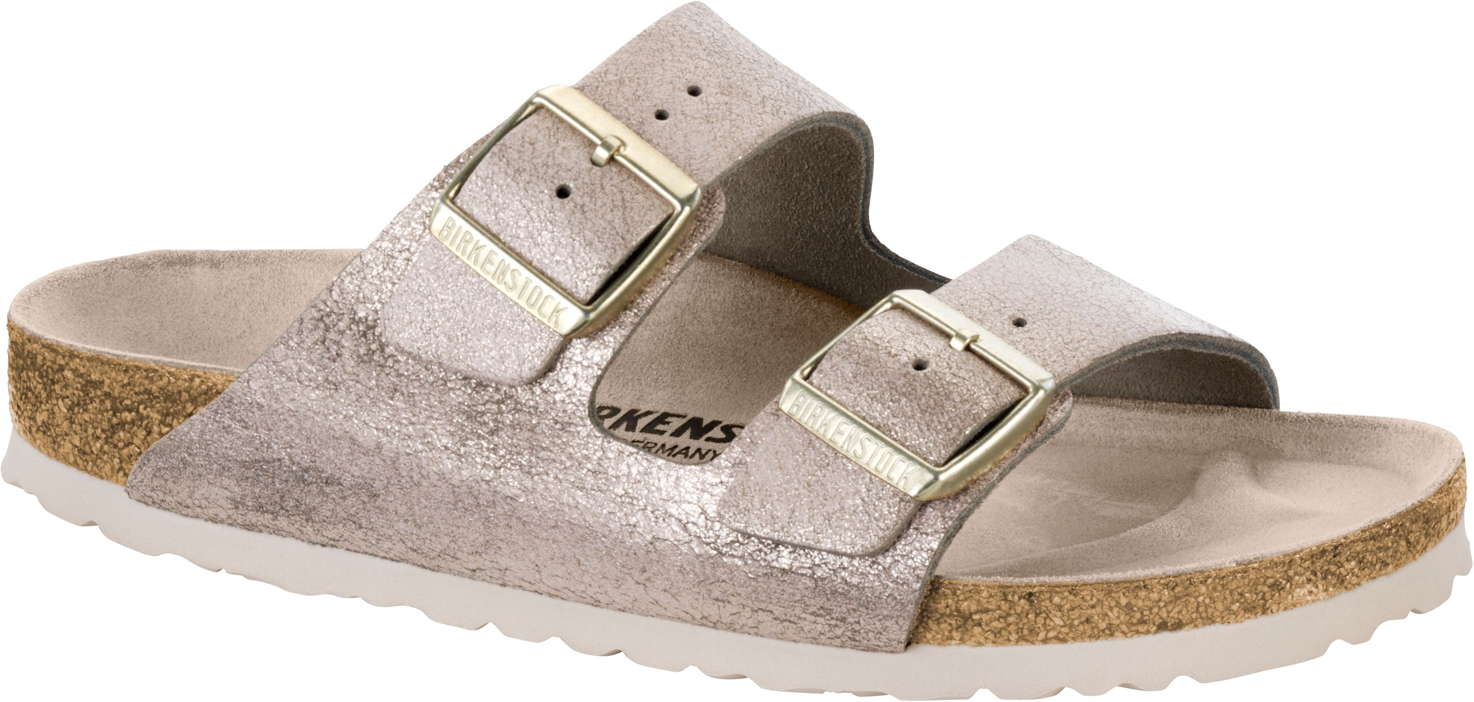 BIRKENSTOCK Pantolette Arizona washed metallic rose gold Gr. 35 43 1008800