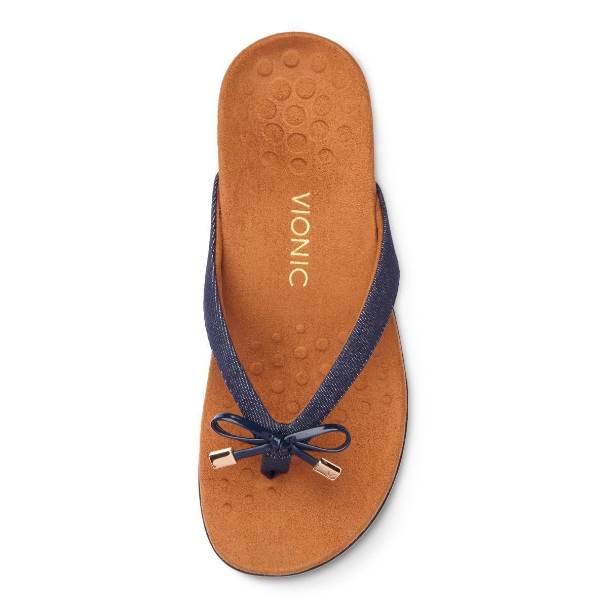 VIONIC Zehensteg Sandale 44BELLAII Denim, Gr. 36-42 - 1000435, Größe + Weite:42 Normal