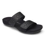 Vionic Pantolette Sandale Samoa black medium Gr. 35 - 42
