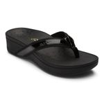 Vionic Zehensteg Sandale Hightide black Gr. 36 - 42